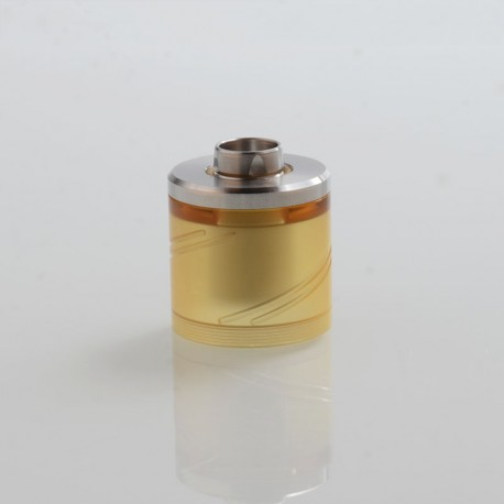 Vapeasy SteamTuners Style Top Fill Tank Kit for 24mm KF Lite 2019 Style RTA - Silver + Ultem, 316 Stainless Steel + PEI