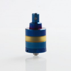 ShenRay KF Lite 2019 Style RTA Rebuildable Tank Atomizer - Blue, 316 Stainless Steel + PEI, 2ml, 24mm Diameter