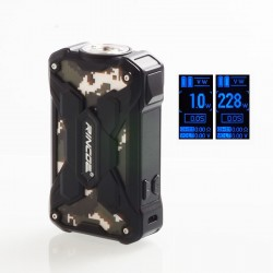 Authentic Rincoe Mechman 228W TC VW Variable Wattage Box Mod - Steel Wing Camo Black, 1~228W, 2 x 18650