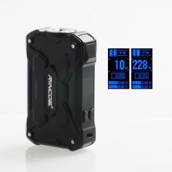 Authentic Rincoe Mechman 228W TC VW Variable Wattage Box Mod - Steel Wing Full Black, 1~228W, 2 x 18650
