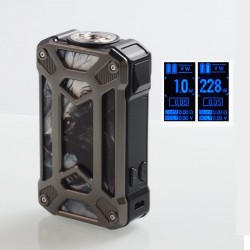 Authentic Rincoe Mechman 228W TC VW Variable Wattage Box Mod - Steel Case Wolf SS, 1~228W, 2 x 18650