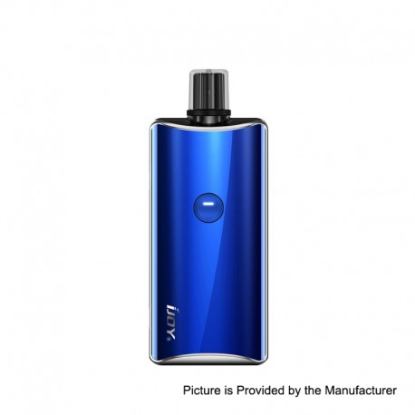 Authentic IJOY Saturn 1100mAh 15W Pod System Starter Kit - Ocean Blue, Zinc Alloy + Stainless Steel + Glass, 3ml, 1.0 Ohm