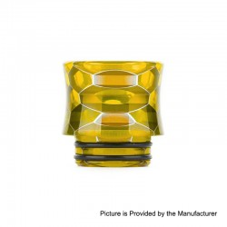 Authentic Vapesoon DT271-Y 810 Replacement Drip Tip TFV12 Tank, Goon RDA - Yellow, Resin, 17mm