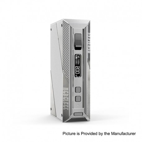 Authentic Ehpro Cold Steel 200 TC VW Variable Wattage Box Mod - Silver + Gun metal,Stainless Steel, 5~200W, 2 x 18650