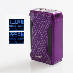 Authentic SMOKTech SMOK H-Priv 2 225W TC VW Variable Wattage Box Mod - Purple, 1~225W, 2 x 18650