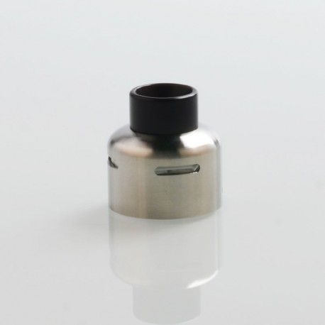 Authentic Steam Crave Glaz RDSA V1.1 Replacement Metal Top Cap - Silver, Stainless Steel