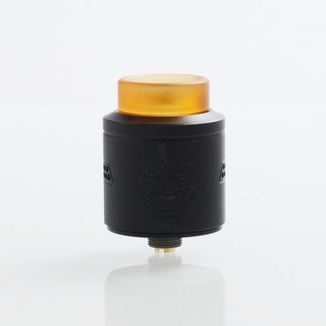 Authentic GeekVape Tengu RDA Rebuildable Dripping Atomizer w/ BF Pin - Black, Stainless Steel, 24mm Diameter
