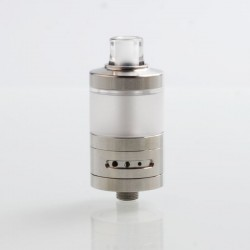 YFTK VWM Integra Style RTA Rebuildable Tank Atomizer - Silver, 316 Stainless Steel + PC, 4.2ml, 22mm Diameter