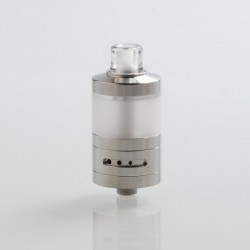 Coppervape VWM Integra Style RTA Rebuildable Tank Atomizer - Silver, 316 Stainless Steel + PC, 4ml, 22mm Diameter
