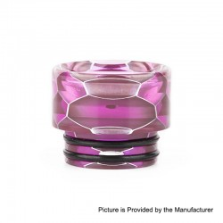 Authentic Vapesoon DT269-P 810 Replacement Drip Tip for TFV8 / TFV12 Tank / Goon / Kennedy / Reload RDA - Purple, Resin, 13mm