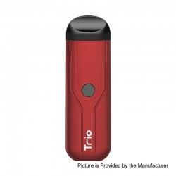 Authentic Yocan Trio 3-in-1 500mAh Pod System Starter Kit - Red, 1.0ml
