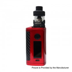 Authentic Asmodus Minikin 3S 200W TC VW Variable Wattage Box Mod + Viento Tank Kit - Red, 5~200W, 2 x 18650, 3.5ml, 3.0 Ohm