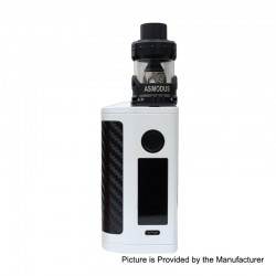 Authentic Asmodus Minikin 3S 200W TC VW Variable Wattage Box Mod + Viento Tank Kit - White, 5~200W, 2 x 18650, 3.5ml, 3.0 Ohm