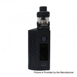 Authentic Asmodus Minikin 3S 200W TC VW Variable Wattage Box Mod + Viento Tank Kit - Black, 5~200W, 2 x 18650, 3.5ml, 3.0 Ohm