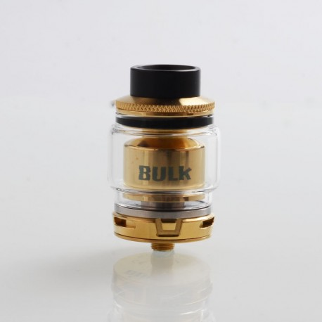 Authentic Oumier Bulk RTA Rebuildable Tank Atomizer - Gold, Stainless Steel, 6.5ml, 28mm Diameter