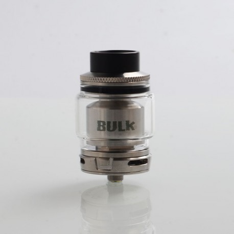 Authentic Oumier Bulk RTA Rebuildable Tank Atomizer - Silver, Stainless Steel, 6.5ml, 28mm Diameter