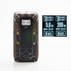 Authentic ThinkVape Thor 200W TC VW Variable Wattage Box Mod - Chief, ABS, 5~200W, 2 x 18650