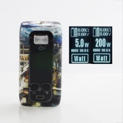 Authentic ThinkVape Thor 200W TC VW Variable Wattage Box Mod - Science, ABS, 5~200W, 2 x 18650