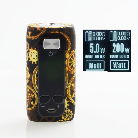 Authentic ThinkVape Thor 200W TC VW Variable Wattage Box Mod - Gear, ABS, 5~200W, 2 x 18650