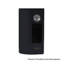 Authentic Asmodus Minikin 3 200W Touch Screen TC VW Variable Wattage Box Mod - Black, 5~200W, 2 x 18500