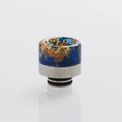 510 Drip Tip for RDA / RTA / RDTA / Clearomizer / Sub Ohm Tank Vape Atomizer - Blue, Resin + Stainless Steel, 15.6mm