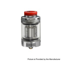 Authentic Blitz Monstor Sub Ohm Tank Vape Atomizer w/ 6.5ml Bubble Glass - Silver, Stainless Steel + Glass, 4.5ml, 28mm Dia.