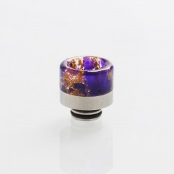 510 Drip Tip for RDA / RTA / RDTA / Clearomizer / Sub Ohm Tank Vape Atomizer - Purple, Resin + Stainless Steel, 15.6mm