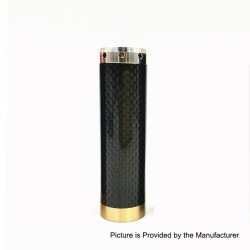 Kennedy Vindicator Style Carbon Fiber Hybrid Mechanical Mod - Black, Stainless Steel, 1 x 18650 / 20700 / 21700