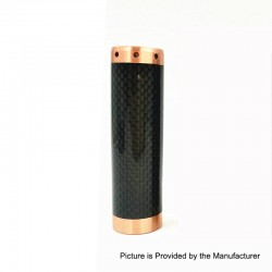 Kennedy Vindicator Style Carbon Fiber Hybrid Mechanical Mod - Black, Copper, 1 x 18650 / 20700 / 21700