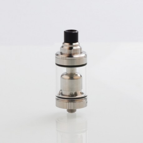 Authentic Ambition-Mods GATE MTL RTA Rebuildable Tank Atomizer - Silver, 316 Stainless Steel, 3.5ml, 22mm Diameter