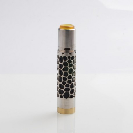 Kennedy Avengers Hollow Style Mechanical Mod + Kennedy 25 Style RDA Kit - Silver, Stainless Steel, 1 x 18650 / 20700 / 21700