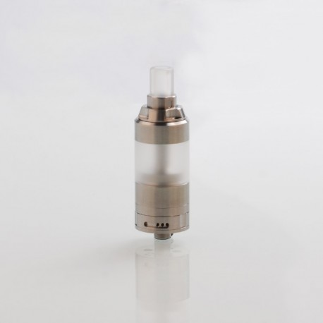 SXK KA V8 Style RTA Rebuildable Tank Atomizer - Silver, 316 Stainless Steel, 5ml, 22mm Diameter