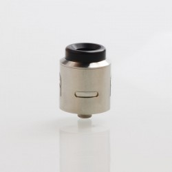 Terk V2 Style RDA Rebuildable Dripping Atomizer w/ BF Pin - Silver, Stainlee Steel, 24mm Diameter