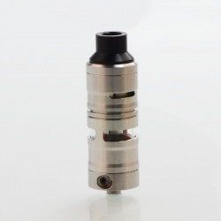 Vapeasy Gevolution V2 Style Mesh RDTA Rebuildable Dripping Tank Atomizer - Silver, 316 Stainless Steel, 4ml, 23mm Diameter