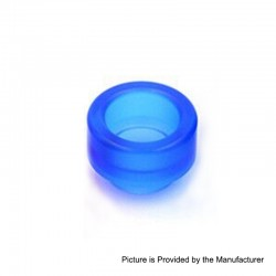 Replacement Wide Bore 810 Drip Tip for Goon / Kennedy / Reload RDA - Blue, Acrylic