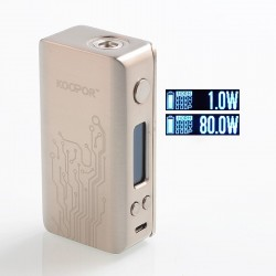 Authentic SMOKTech SMOK Koopor Mini 2 80W TC VW Variable Wattage Box Mod - Silver, Zinc Alloy, 1~80W, 1 x 18650
