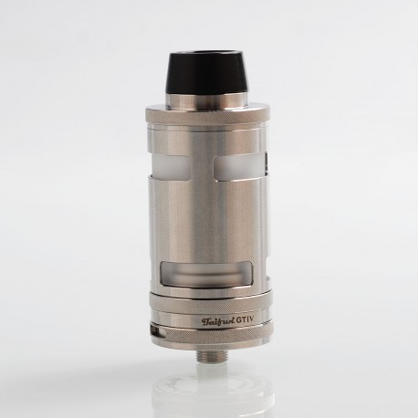 ShenRay Typhoon GT4 Style RTA Rebuildable Tank Atomizer - Silver, 316 Stainless Steel, 5ml, 25mm Diameter