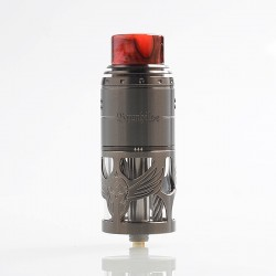 Authentic Vapefly Brunhilde Top Coiler RTA Rebuildable Tank Atomizer - Gun Metal, Stainless Steel, 8ml, 25mm Diameter