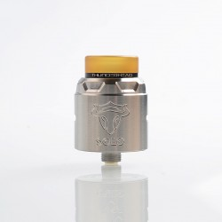 Authentic ThunderHead Creations THC Tauren Solo RDA Rebuildable Dripping Atomizer w/ BF Pin - SS, 2ml, 24mm Diameter