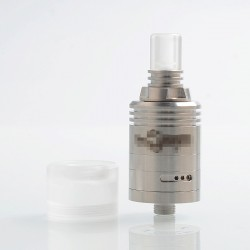 Kindbright Caiman Style MTL RDA Rebuildable Dripping Atomizer w/ BF Pin - Silver, 316 Stainless Steel, 22mm Diameter