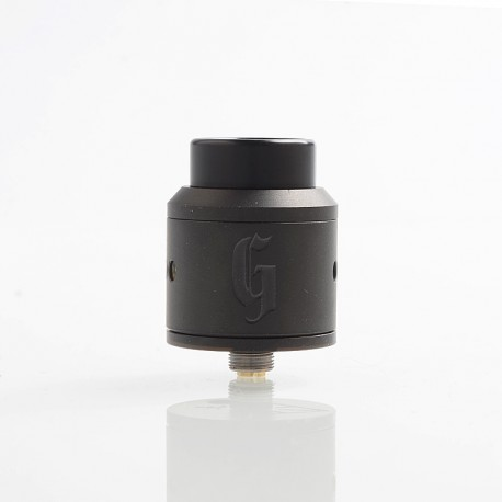 Authentic 528 Customs Goon RDA Rebuildable Dripping Atomizer w/ BF Pin - Black, Stainless Steel, 25mm Diameter