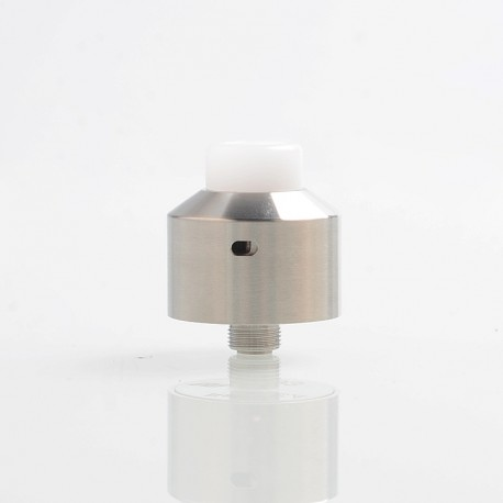 SXK NarEA Style RDA Rebuildable Dripping Atomizer w/ BF Pin - Silver, 316 Stainless Steel, 22mm Diameter