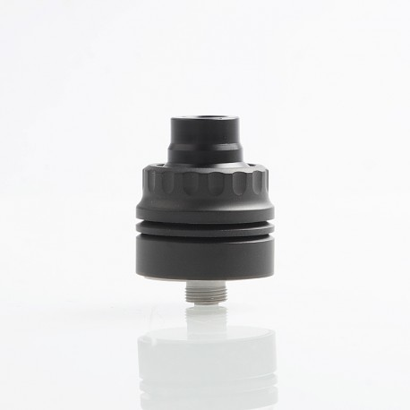Vapeasy Armor S Style RDA Rebuildable Dripping Atomizer w/ BF Pin - Black, 316 Stainless Steel, 22mm Diameter