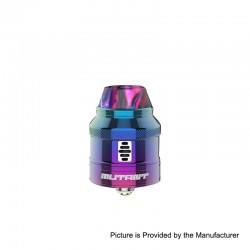 Authentic Vandy Vape Mutant RDA Rebuildable Dripping Atomizer w/ BF Pin - Rainbow, Stainless Steel, 25mm Diameter