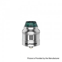 Authentic Vandy Vape Mutant RDA Rebuildable Dripping Atomizer w/ BF Pin - Silver, Stainless Steel, 25mm Diameter