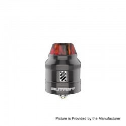 Authentic Vandy Vape Mutant RDA Rebuildable Dripping Atomizer w/ BF Pin - Gun Metal, Stainless Steel, 25mm Diameter