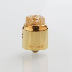 Authentic Wotofo Recurve Dual RDA Rebuildable Dripping Atomizer w/ BF Pin - Gold, Stainless Steel, 24mm Diameter
