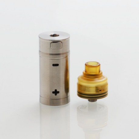 Authentic Cool Vapor Takit Mini Mechanical Mod + BF RDA Kit - Silver, 316 Stainless Steel, 1 x 18350