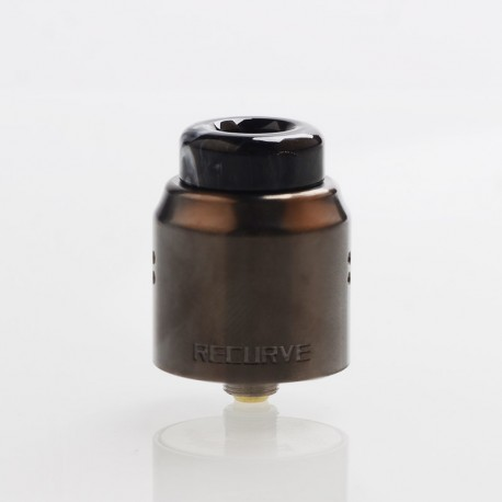 Authentic Wotofo Recurve Dual RDA Rebuildable Dripping Atomizer w/ BF Pin - Gun Metal, Stainless Steel, 24mm Diameter
