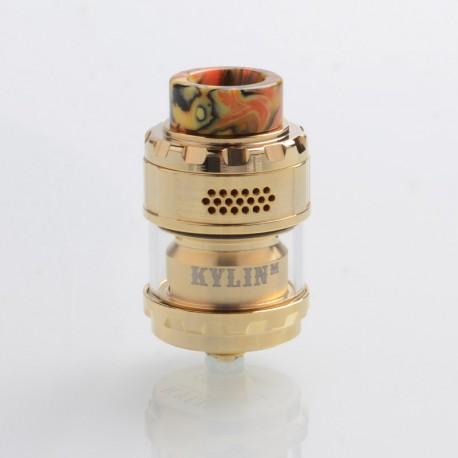 Authentic Vandy Vape Kylin M Mesh RTA Rebuildable Tank Atomizer - Gold, 3ml / 4.5ml, 24mm Diameter